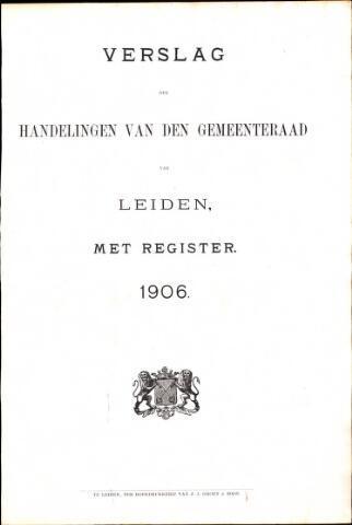Handelingen van de Raad 1906-01-01