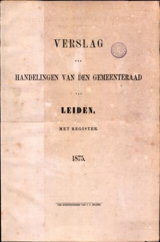 Handelingen van de Raad 1875-01-01