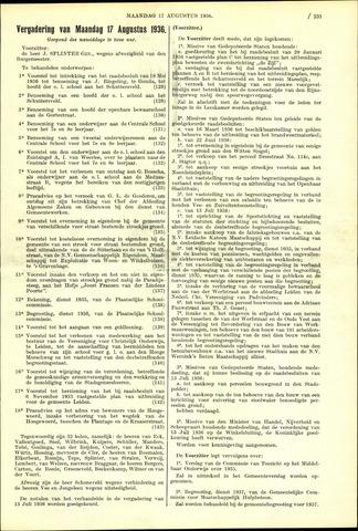 Handelingen van de Raad 1936-08-17