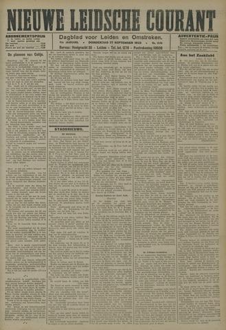 Nieuwe Leidsche Courant 1923-09-27