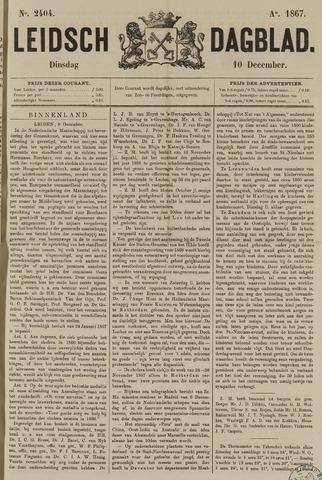 Leidsch Dagblad 1867-12-10