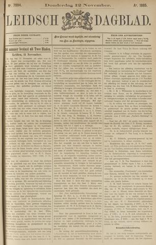 Leidsch Dagblad 1885-11-12