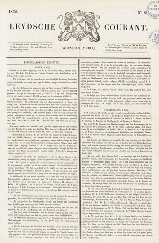Leydse Courant 1852-07-07