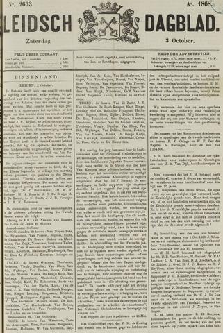 Leidsch Dagblad 1868-10-03