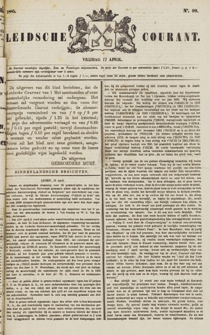 Leydse Courant 1885-04-17