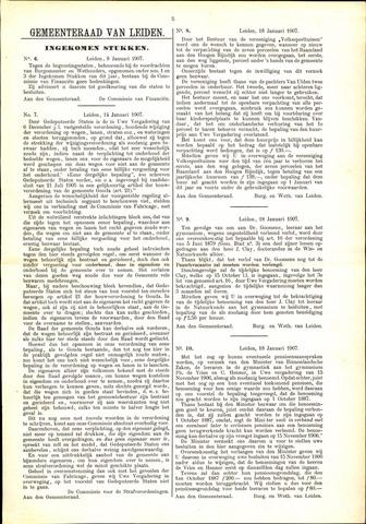 Handelingen van de Raad 1907-01-08