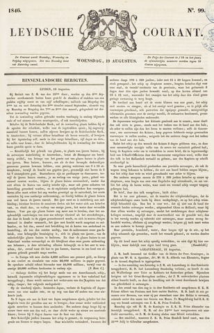 Leydse Courant 1846-08-19