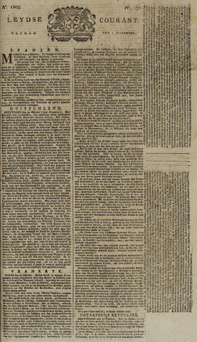 Leydse Courant 1805-11-01