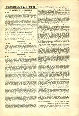 Handelingen van de Raad 1909-03-30