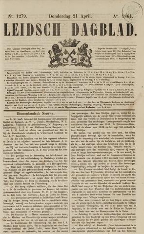 Leidsch Dagblad 1864-04-21