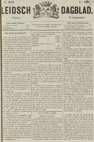 Leidsch Dagblad 1868-09-25