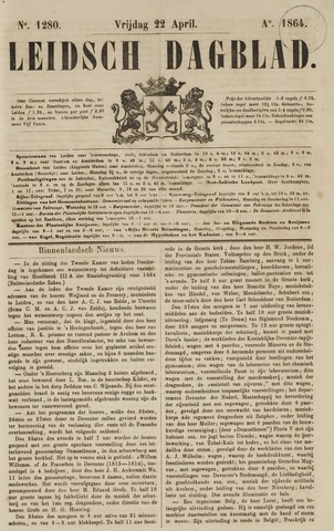 Leidsch Dagblad 1864-04-22
