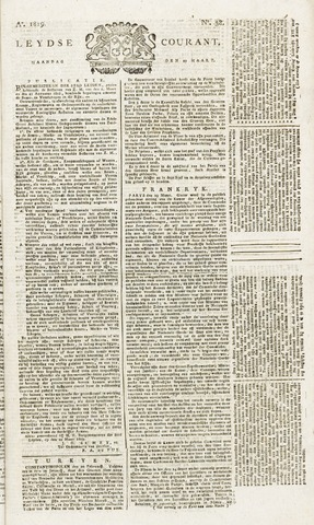 Leydse Courant 1819-03-29