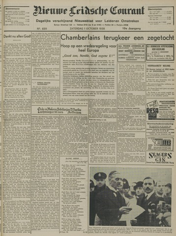Nieuwe Leidsche Courant 1938-10-01