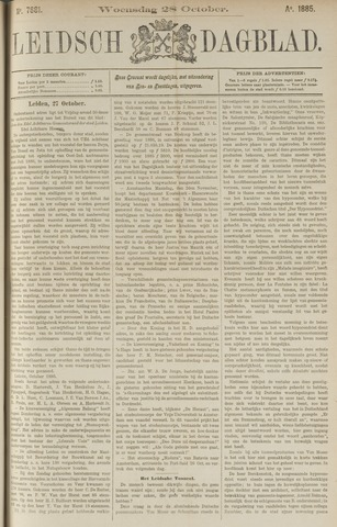 Leidsch Dagblad 1885-10-28