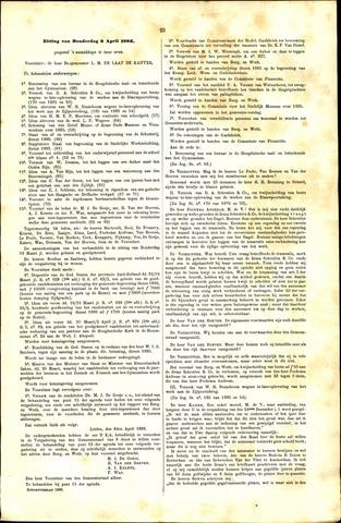 Handelingen van de Raad 1886-04-08