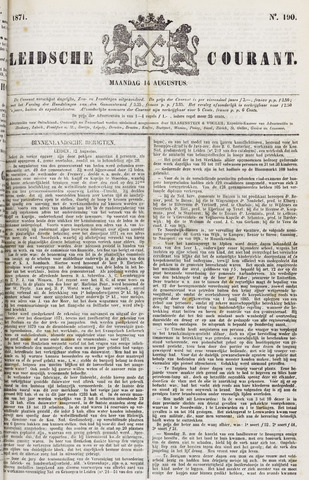 Leydse Courant 1871-08-14