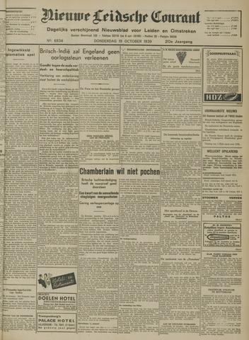 Nieuwe Leidsche Courant 1939-10-19