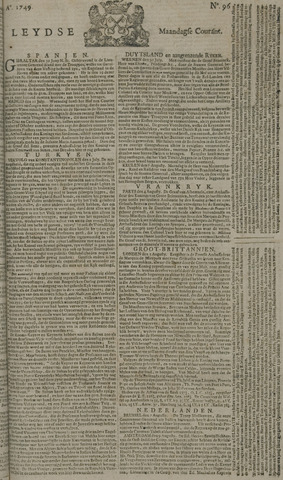Leydse Courant 1749-08-11