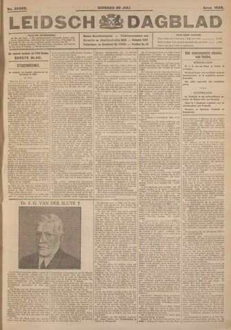 Leidsch Dagblad 1926-07-20