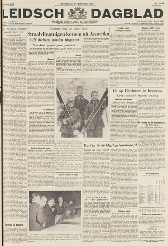 Leidsch Dagblad 1954-02-27