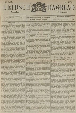 Leidsch Dagblad 1878-11-13