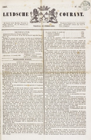 Leydse Courant 1865-02-10