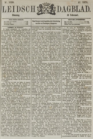 Leidsch Dagblad 1878-02-19