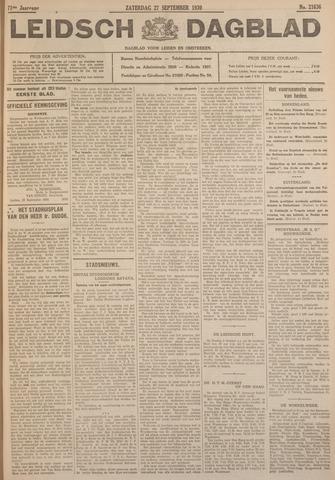Leidsch Dagblad 1930-09-27