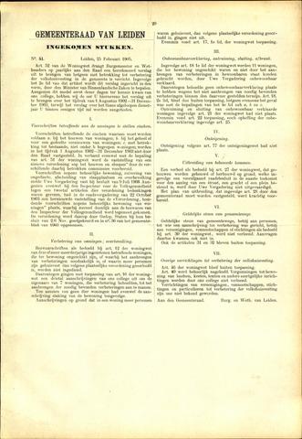 Handelingen van de Raad 1905-02-25