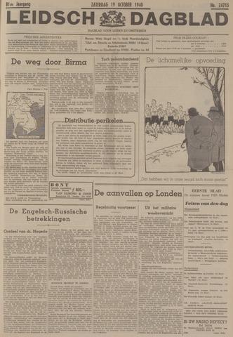 Leidsch Dagblad 1940-10-19