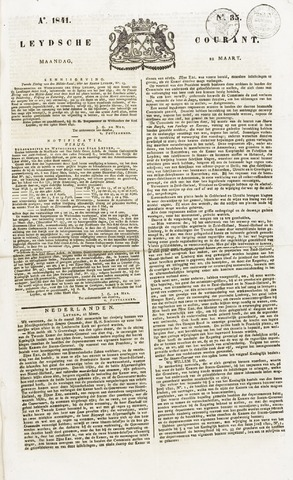 Leydse Courant 1841-03-22