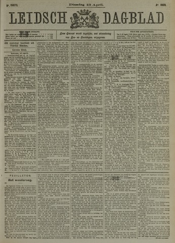 Leidsch Dagblad 1909-04-13