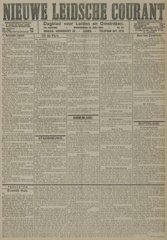 Nieuwe Leidsche Courant 1921-07-13