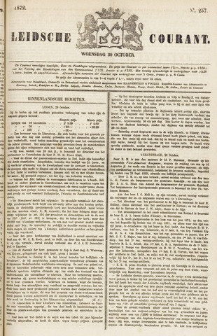 Leydse Courant 1872-10-30