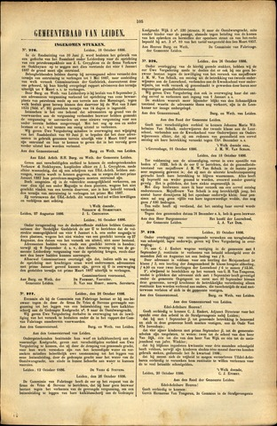 Handelingen van de Raad 1886-10-18