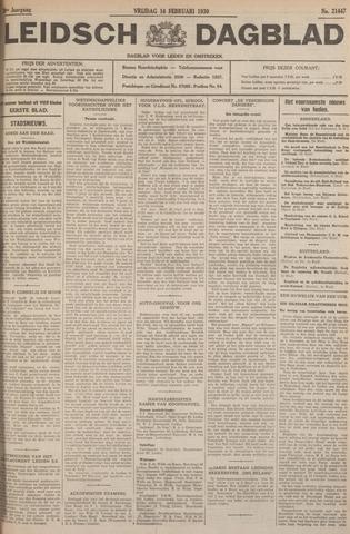 Leidsch Dagblad 1930-02-14