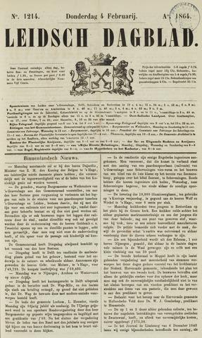 Leidsch Dagblad 1864-02-04