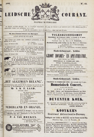 Leydse Courant 1882-02-20