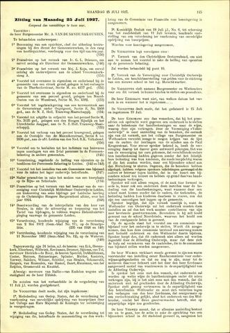 Handelingen van de Raad 1927-07-25