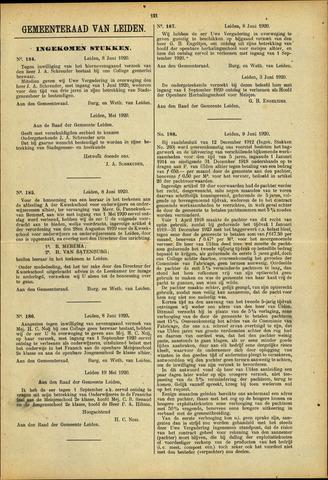 Handelingen van de Raad 1920-06-08