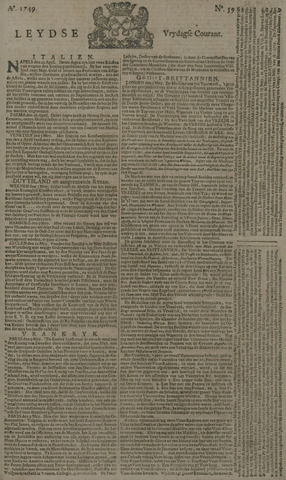 Leydse Courant 1749-05-16