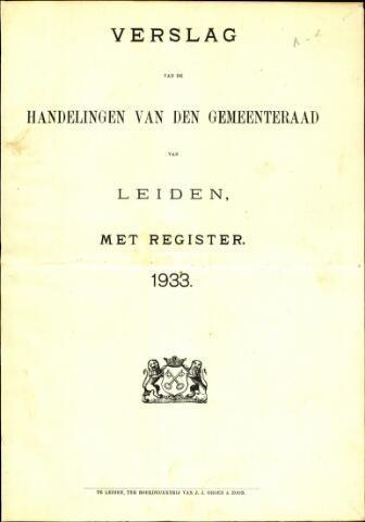 Handelingen van de Raad 1933-01-01