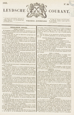 Leydse Courant 1853-02-16