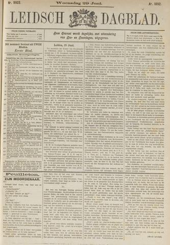 Leidsch Dagblad 1892-06-29
