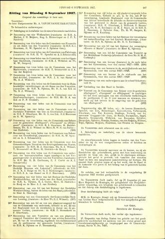 Handelingen van de Raad 1927-09-06