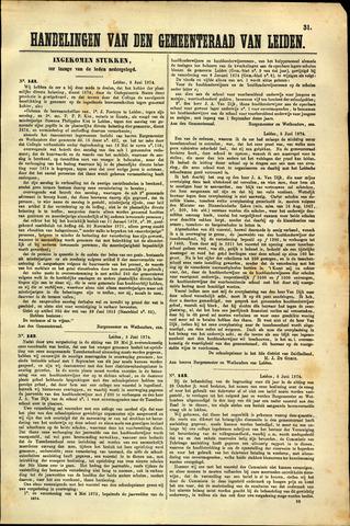 Handelingen van de Raad 1874-06-08