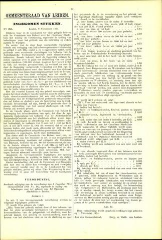 Handelingen van de Raad 1934-11-09