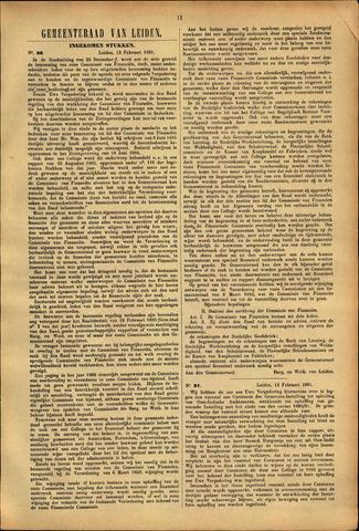 Handelingen van de Raad 1891-02-12