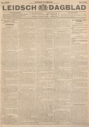 Leidsch Dagblad 1926-02-15